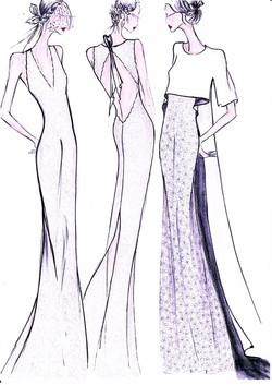 robes de dentelle et veste dos marquise.