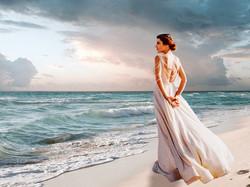 La mariée au bord del'ocean