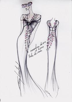 Dessin robe & bijoux