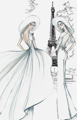 Robes et pantalon de mariée