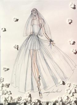 Robe Princesse en organza de soie