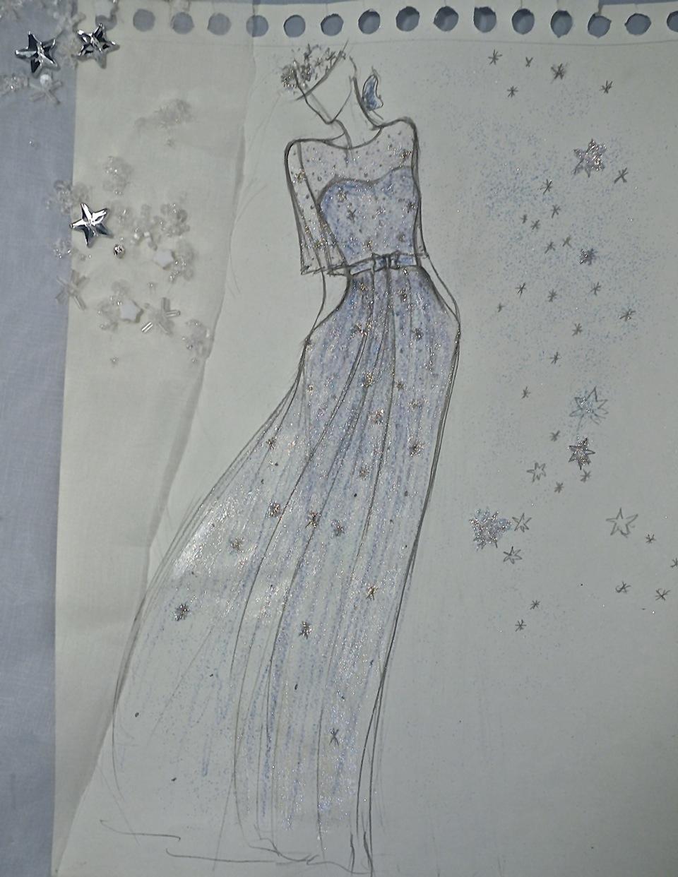 Dessin de robe Etoile