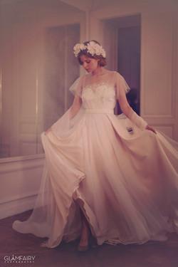 Robe de mariée voile de nymphe