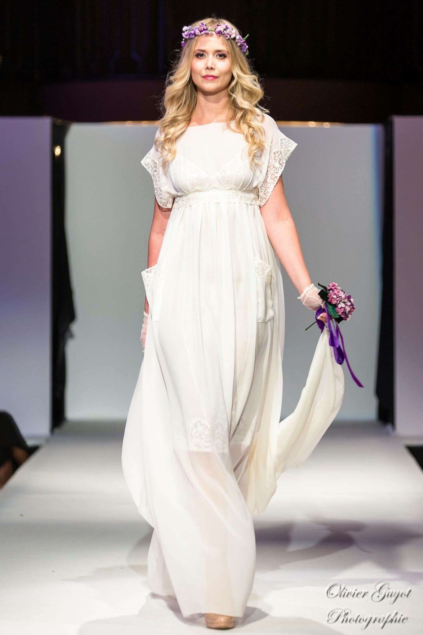 "Robe de mariée ""Swann"" crêpe de soie"
