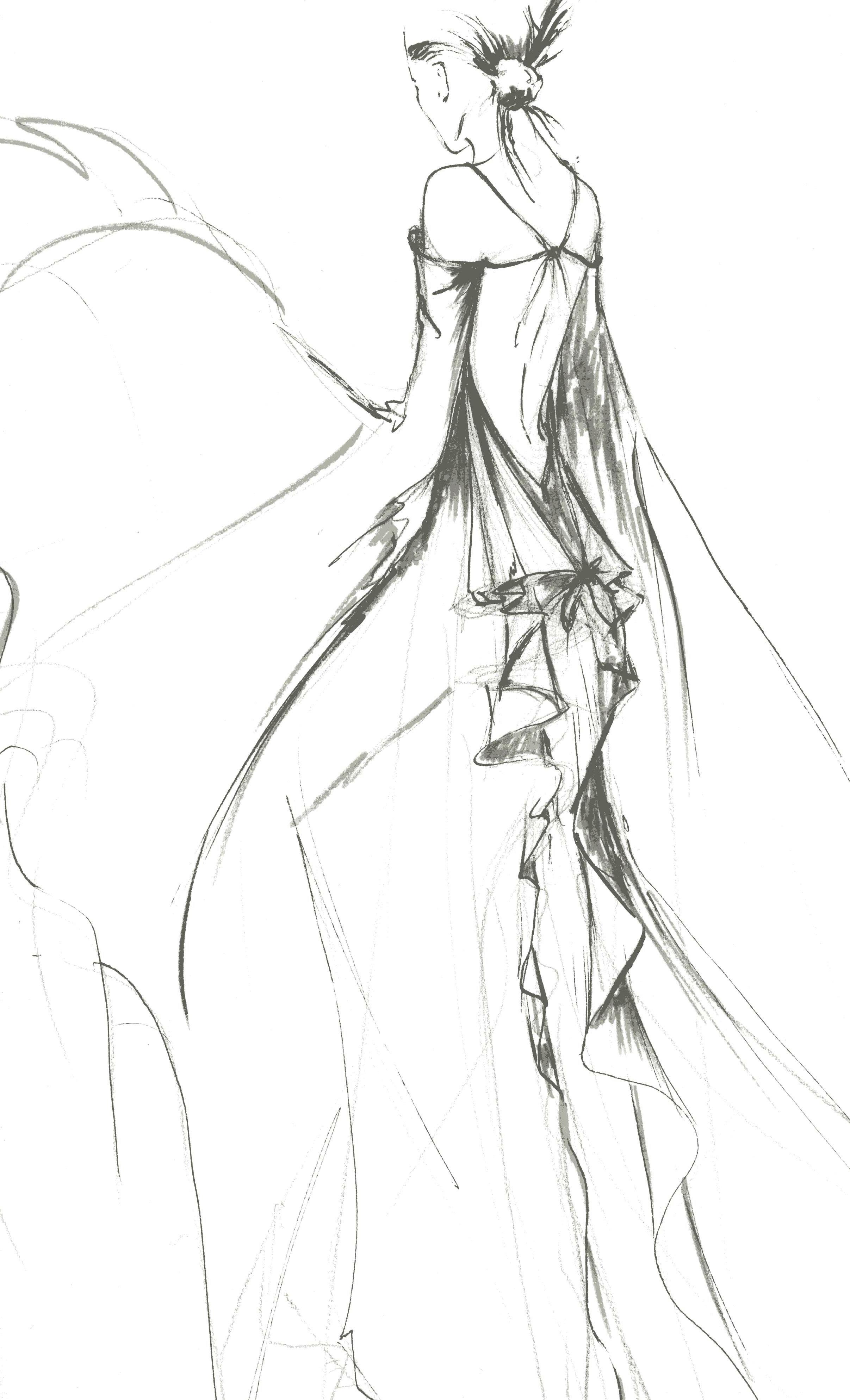 dessin robe papillon