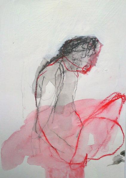 catherine seher dessin crayon fusain aquarelle sur papier