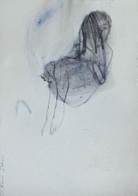 catherine seher dessin graphite pastel sur papier