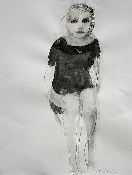 catherine seher dessin techniques mixtes sur papier