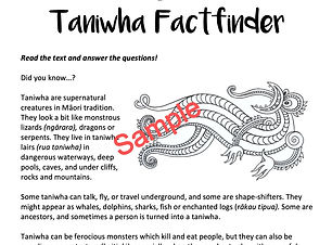 Taniwha Factfinder