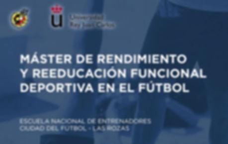 Máster de rendimiento y reeducación funcional deportiva en el fútbol