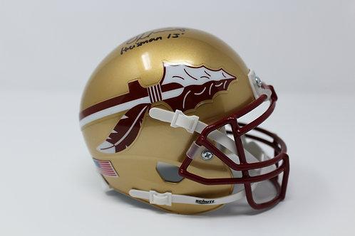 Jameis Winston Autographed Florida State Mini Helmet Inscribed 'Heisman 13'