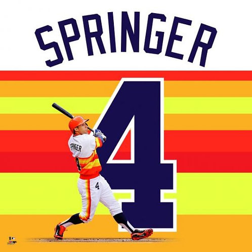 George Springer Rainbow Jersey Uniframe