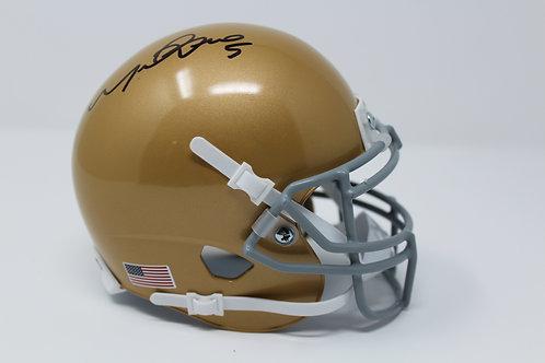 Manti Te'o Autographed Notre Dame Mini Helmet