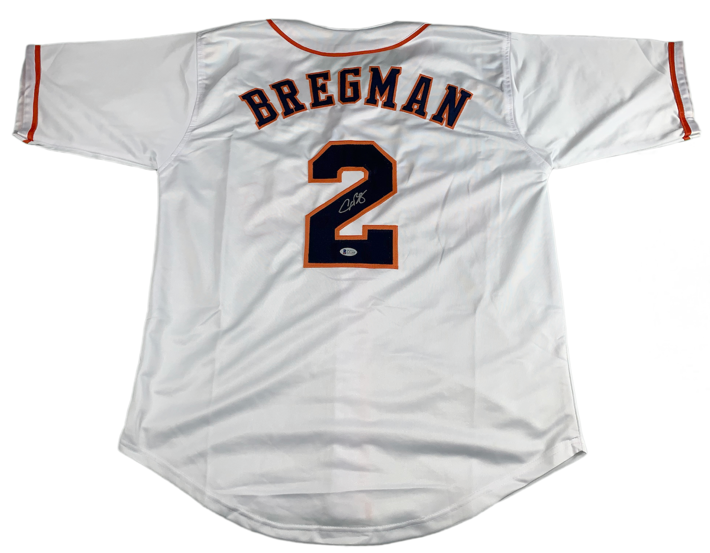 new product c0307 662b6 Alex Bregman Autographed Custom Astros White Jersey