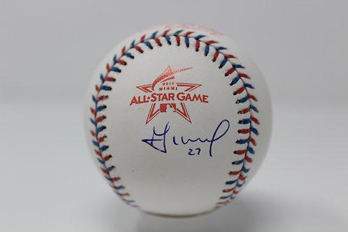 Jose Altuve Autographed 2017 All Star Game Baseball