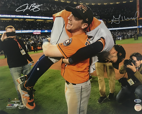 Alex Bregman and Jose Altuve Autographed 16x20 Photo
