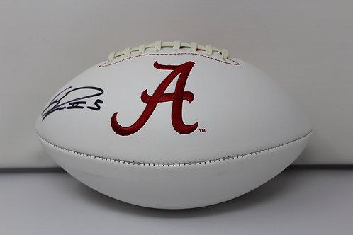 Calvin Ridley Autographed Alabama Crimson Logo Ball