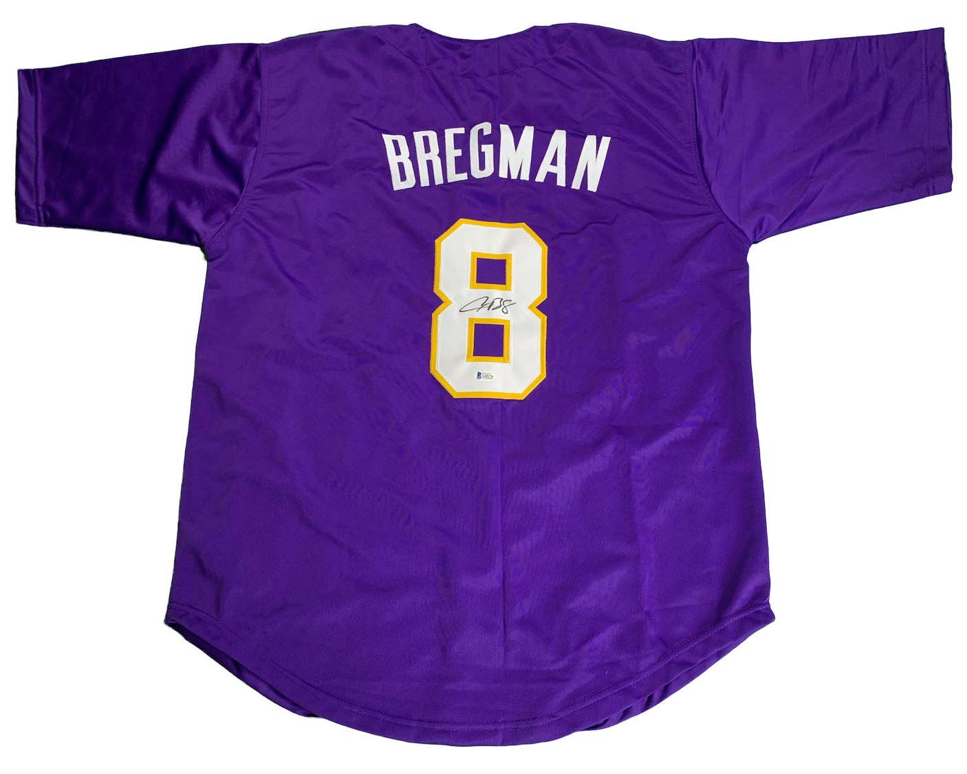 buy popular 31907 2220f Alex Bregman Autographed Custom LSU Jersey