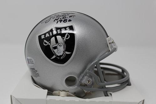 Jim Otto Autographed Oakland Raiders Mini Helmet