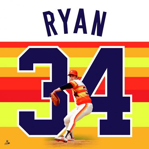 Nolan Ryan Rainbow Jersey Uniframe