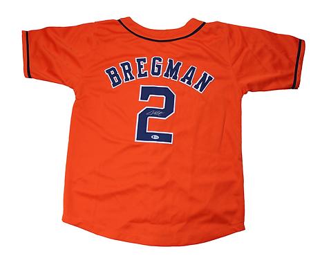 Alex Bregman Autographed Custom Astros Jersey