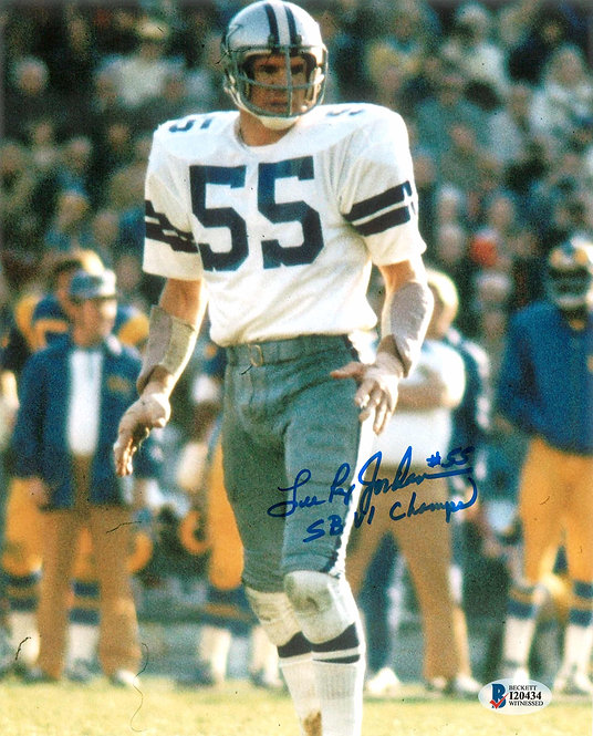 "Lee Roy Jordan Autographed Dallas Cowboys 8x10 Photo Inscribed ""SBVI Champs"""