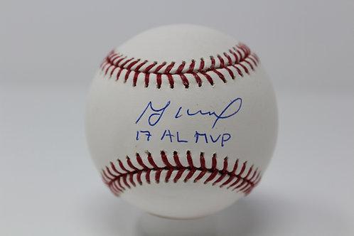 Jose Altuve Autographed Baseball Inscribed 17 AL MVP