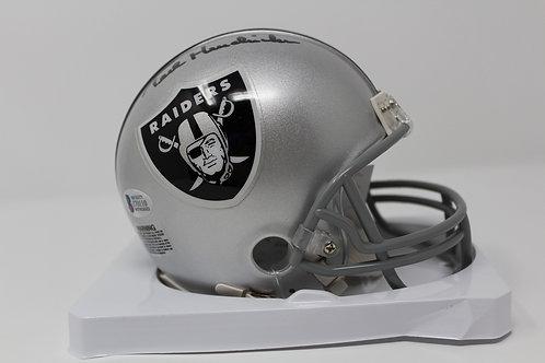 Ted Hendricks Autographed Oakland Raiders Mini Helmet