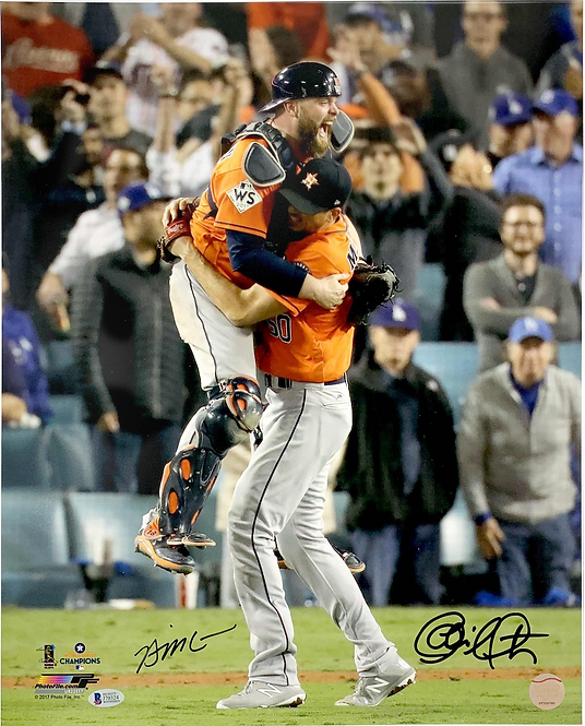 Autographed 16x20 Celebration Photo with McCann and Morton