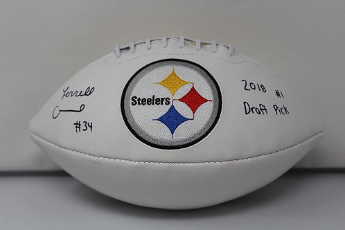 Terrell Edmunds Autographed Pittsburgh Steelers Logo Ball