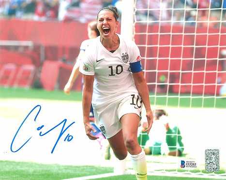 Carli Lloyd Autographed US Women's Soccer 8x10 Photo