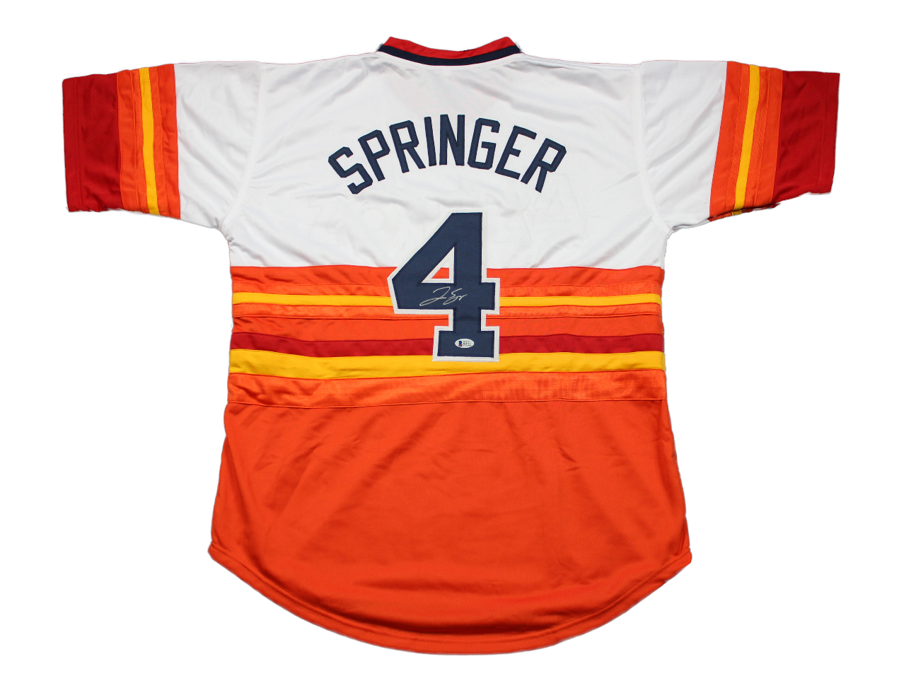 new style 3c11d 40bf2 George Springer Autographed Custom Rainbow Jersey