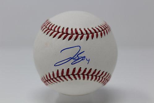 George Springer Autographed Baseball