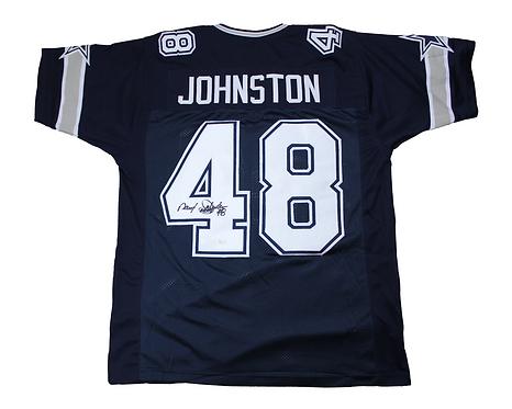 Daryl 'Moose' Johnston Autographed Custom Dallas Cowboys Jersey