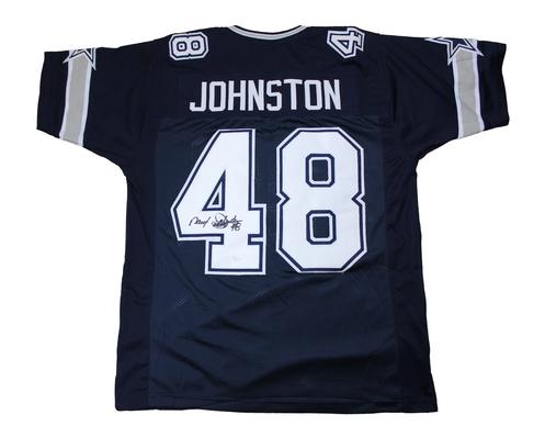 separation shoes ed9fc e06f2 Daryl 'Moose' Johnston Autographed Custom Dallas Cowboys Jersey