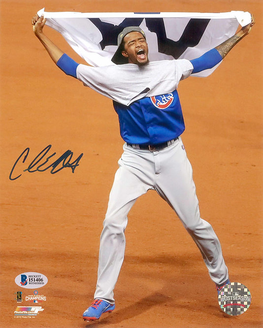 Carl Edwards Autographed Chicago Cubs 8x10 Photo