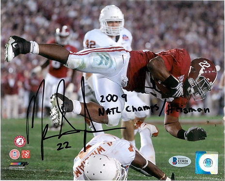 Mark Ingram Autographed 8x10 Photo with 2009 Natl Champs/ Heisman Inscription