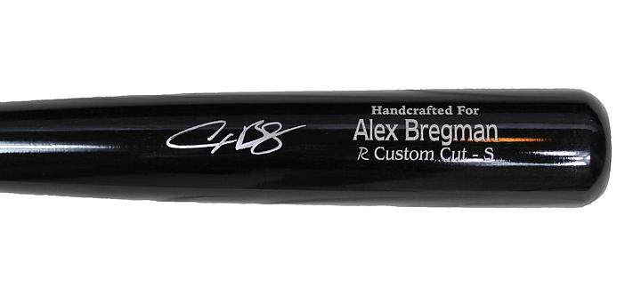 Alex Bregman Autographed Game Model Marucci Black Bat