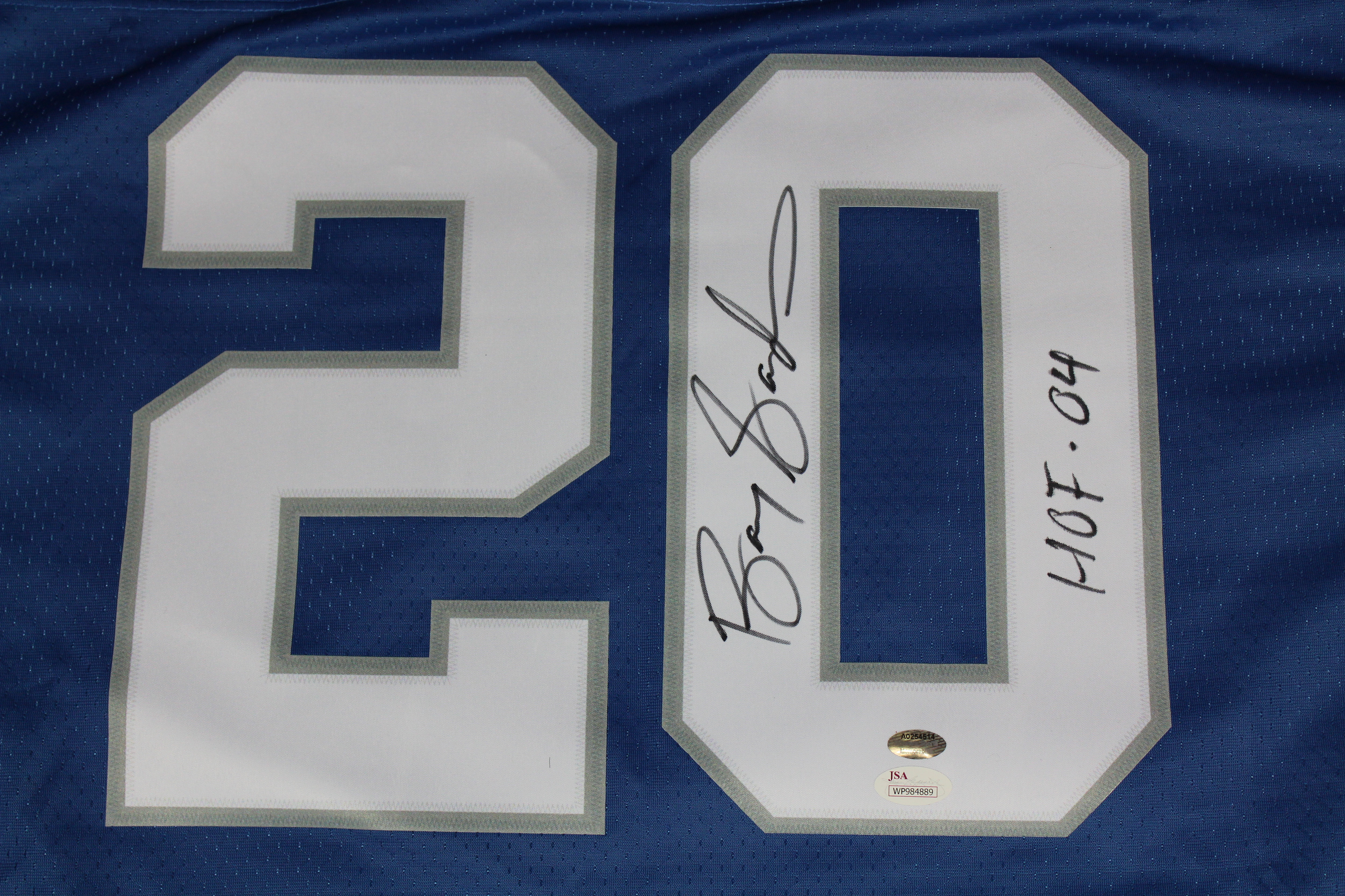 best service f3d9f ac5c5 Barry Sanders Autographed Detroit Lions Jersey wt