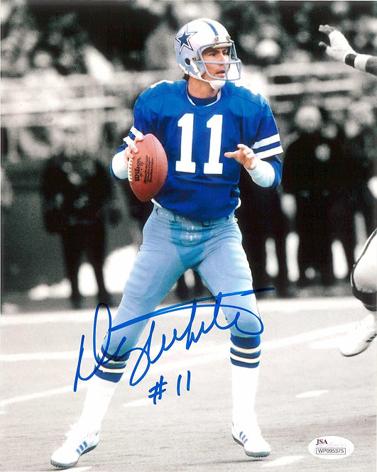 Danny White Autographed 8x10 Photo