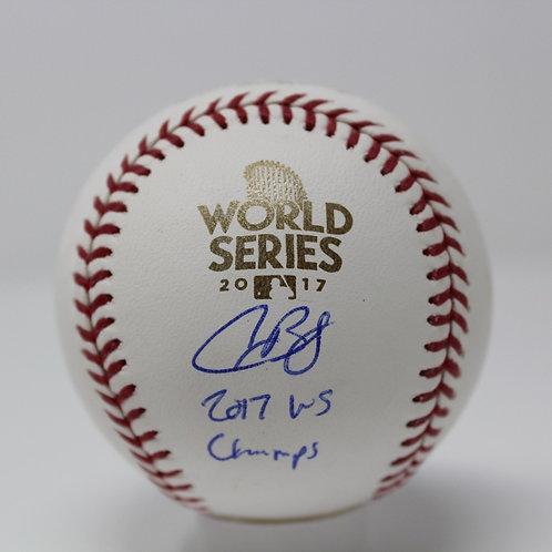 Alex Bregman Autographed 2017 World Series Baseball Inscribed 2017 WS Champs