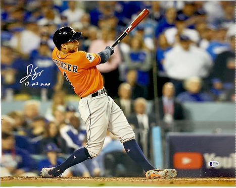 "George Springer Autographed 16x20 Photo with ""17 WS MVP""inscription"
