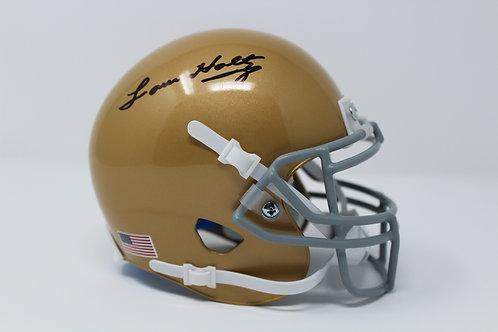Lou Holtz Autographed Notre Dame Mini Helmet