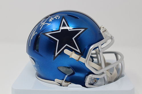 Rod Smith Autographed Dallas Cowboys Blaze Mini Helmet