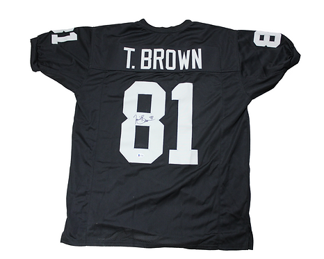 Tim Brown Autographed Custom Oakland Raiders Jersey