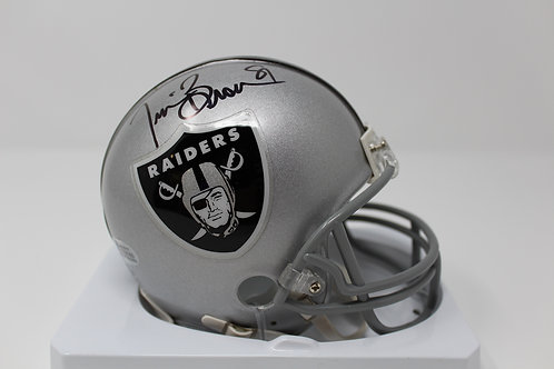 Tim Brown Autographed Oakland Raiders Mini Helmet