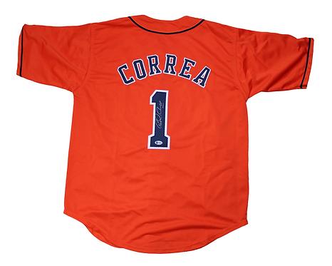 Carlos Correa Autographed Custom Jersey