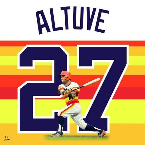 Jose Altuve Rainbow Jersey Uniframe