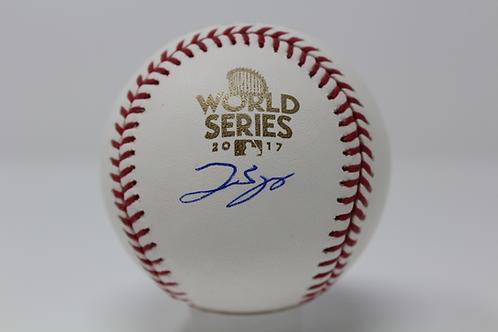 George Springer Autographed 2017 World Series Stat Baseball