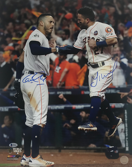 Carlos Correa and Jose Altuve Autographed 16x20 Photo